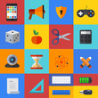 Vector flat modern icons set. Eps 10