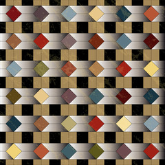 abstract geometric pattern, retro/vintage style, grungy © Kirsten Hinte