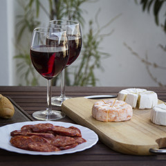 Czech Hermelin cheese and wine