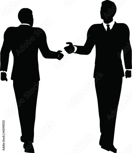 business handshake silhouette