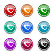 love icon vector set