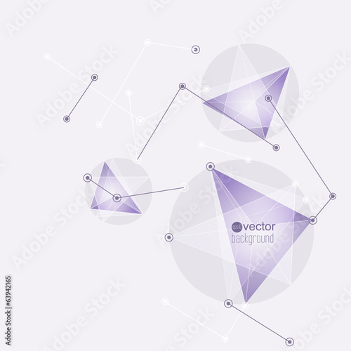 Abstract background with triangles and geometric shapes.