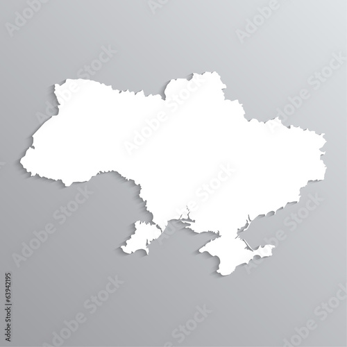 3d map of Ukraine.