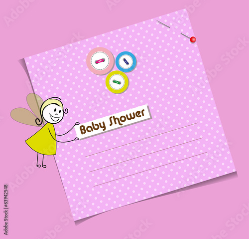 baby shower invitation template Cute vector card