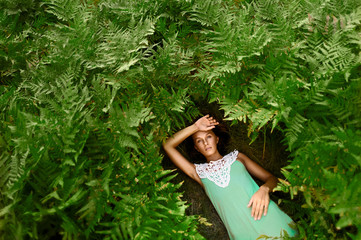 Beautiful girl in Ferns
