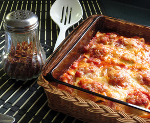 Baked Ravioli Hot from the Oven