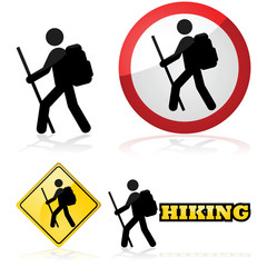 Hiking icons