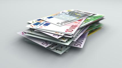 Mucchietto di banconote in euro