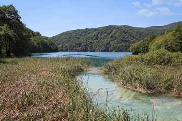 Natural landscape in Plitvice Lakes National Park, Croatia