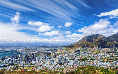 Cape Town city view