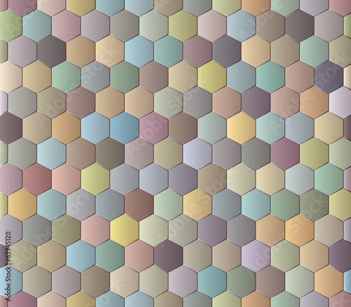 Abstract seamless background with polyhedrons