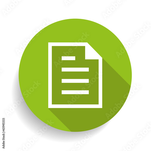 Vector modern circle icon document