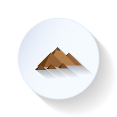 Egyptian pyramids flat icon