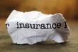 Insurance trash concept