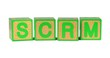 SCRM - Colored Childrens Alphabet Blocks.