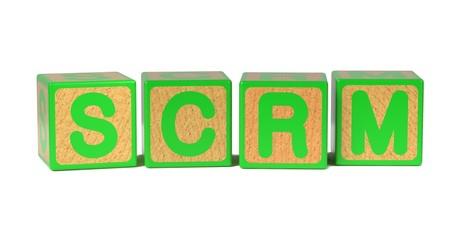 SCRM - Colored Childrens Alphabet Blocks.
