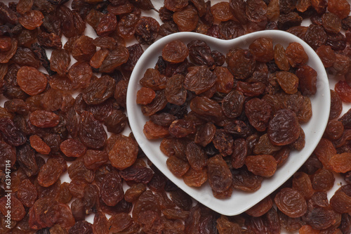 Raisins, dried grape