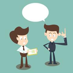 Consulting concept,businessmen discussing document