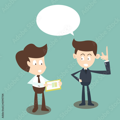 Consulting concept,businessmen discussing document