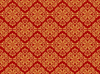 Golden art pattern wallpaper vector background