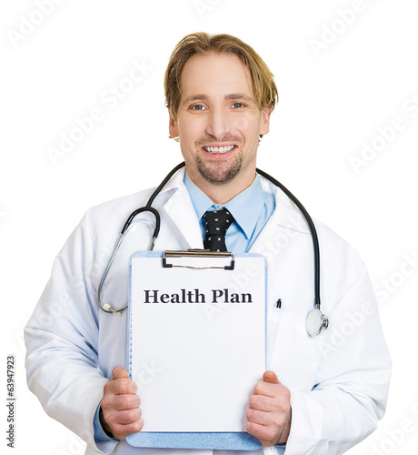 Health plan from healthcare professional