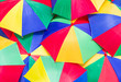 Colorful close up abstract of umbrella