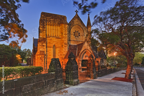 Sydney North Church Sunset
