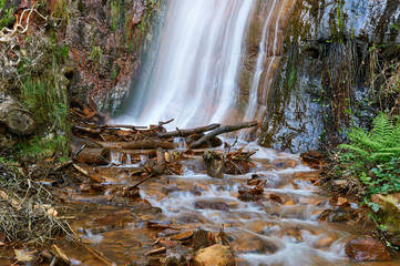 Rexío waterfall in Folgoso do Courel (or Caurel), Lugo, Spain
