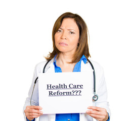 Female doctor questioning Healthcare reform?