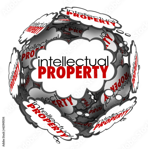 Intellectual Property Thought Clouds Creative Ideas Protected Co