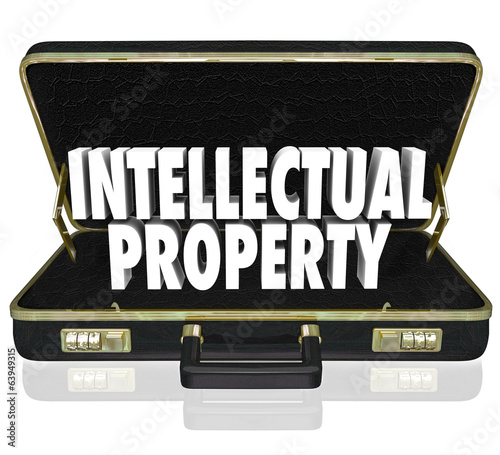 Intellectual Property Words Briefcase Business License Copyright