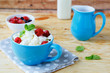 cup cottage cheese with berries