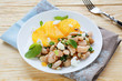 salad with orange and white beans and cheese