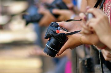 Paparazzi Photographer Close-up