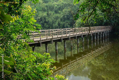 wood bridge in  Krating Waterfall National Park at Chantaburi, T