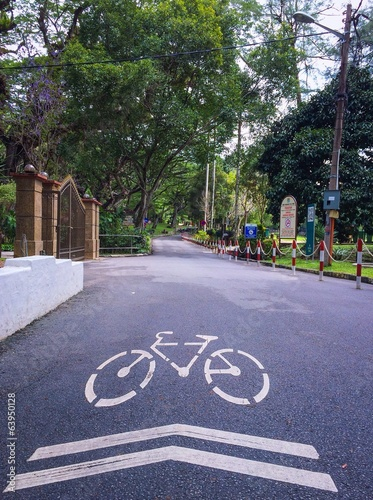 A bicycle path
