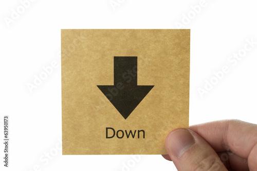 矢印 アイコン down arrow