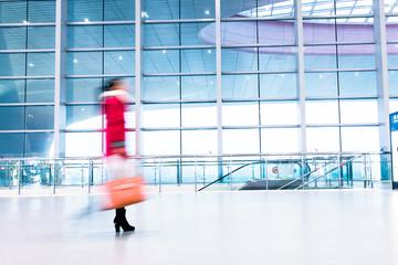 passenger in high speed rail station