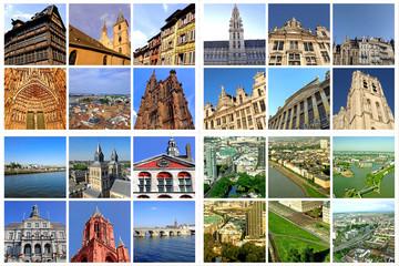 Europäische Großstädte: STRASSBURG+BRÜSSEL+MAASTRICHT+DÜSSELDORF