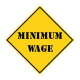 Minimum Wage Sign poster