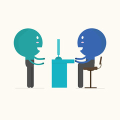 job interview,vector,illustration.