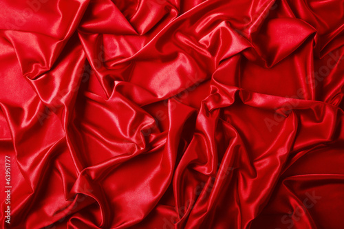 Abstract background, drapery red fabric.
