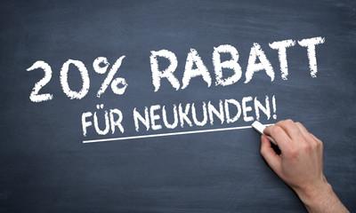 20% Rabatt für Neukunden