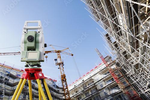 Leinwanddruck Bild surveying technology and construction engineering