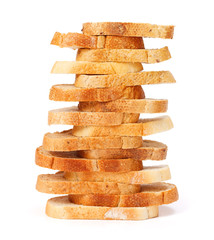 Stacked bread slices