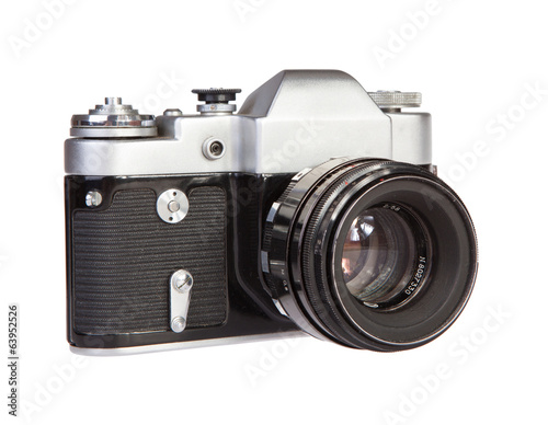 Old retro 35mm film camera soviet