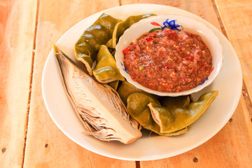 parkia speciosa blanched eat with chili paste  (Sato food southe