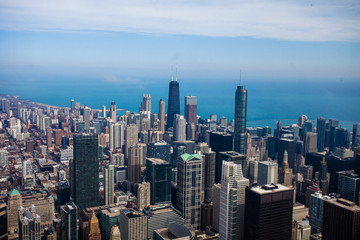 Chicago Skyline Aerial View