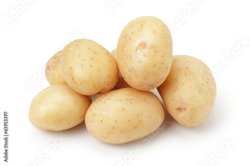 heap of baby potatoes - 63953397