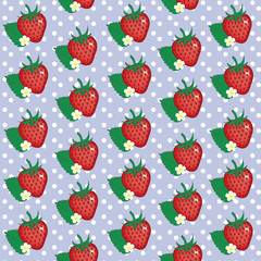 Beauty seamless strawberry pattern.
